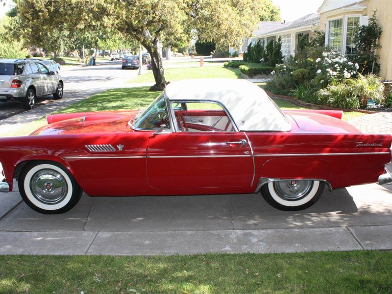 ford thunderbird 1955 for sale by owner in los angeles ca 90045. Black Bedroom Furniture Sets. Home Design Ideas