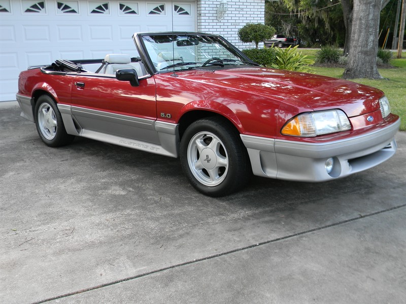 ford mustang gt convertible 1992 sale by owner in lakeland fl 33810. Black Bedroom Furniture Sets. Home Design Ideas