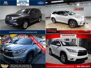 Used Toyota Highlanders for sale