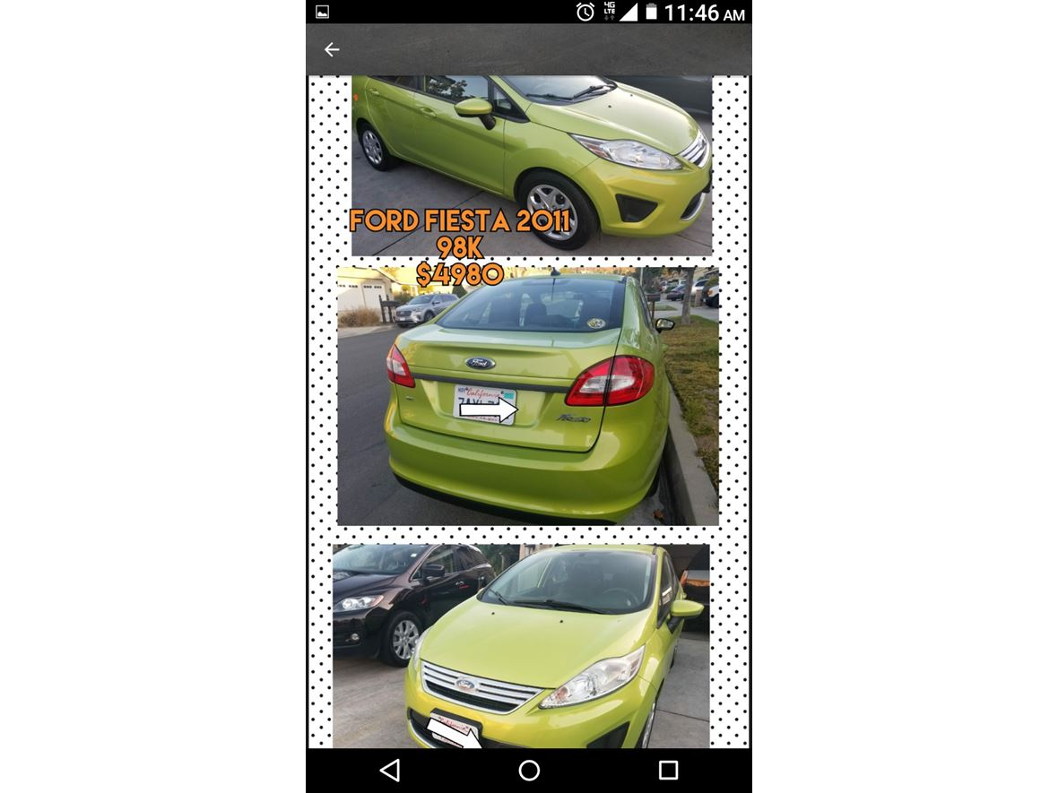 2012 Ford Fiesta for sale by owner in Riverside