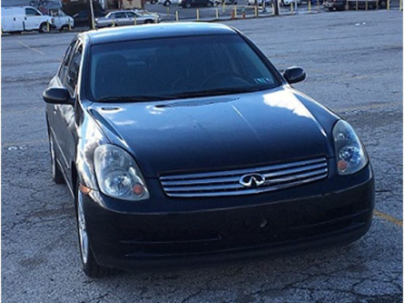 2004 infiniti g35 for sale by owner in philadelphia pa 19197. Black Bedroom Furniture Sets. Home Design Ideas