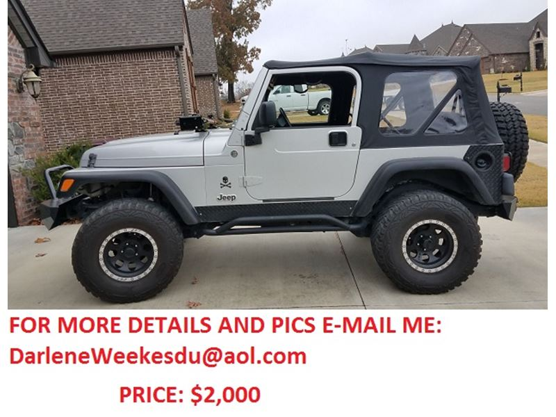 used 2006 jeep wrangler for sale by owner in fort smith ar 72901. Black Bedroom Furniture Sets. Home Design Ideas