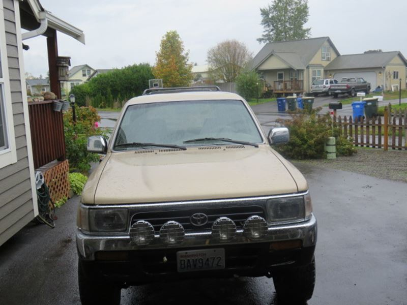 1995 toyota 4runner for sale by owner in rochester wa 98579. Black Bedroom Furniture Sets. Home Design Ideas