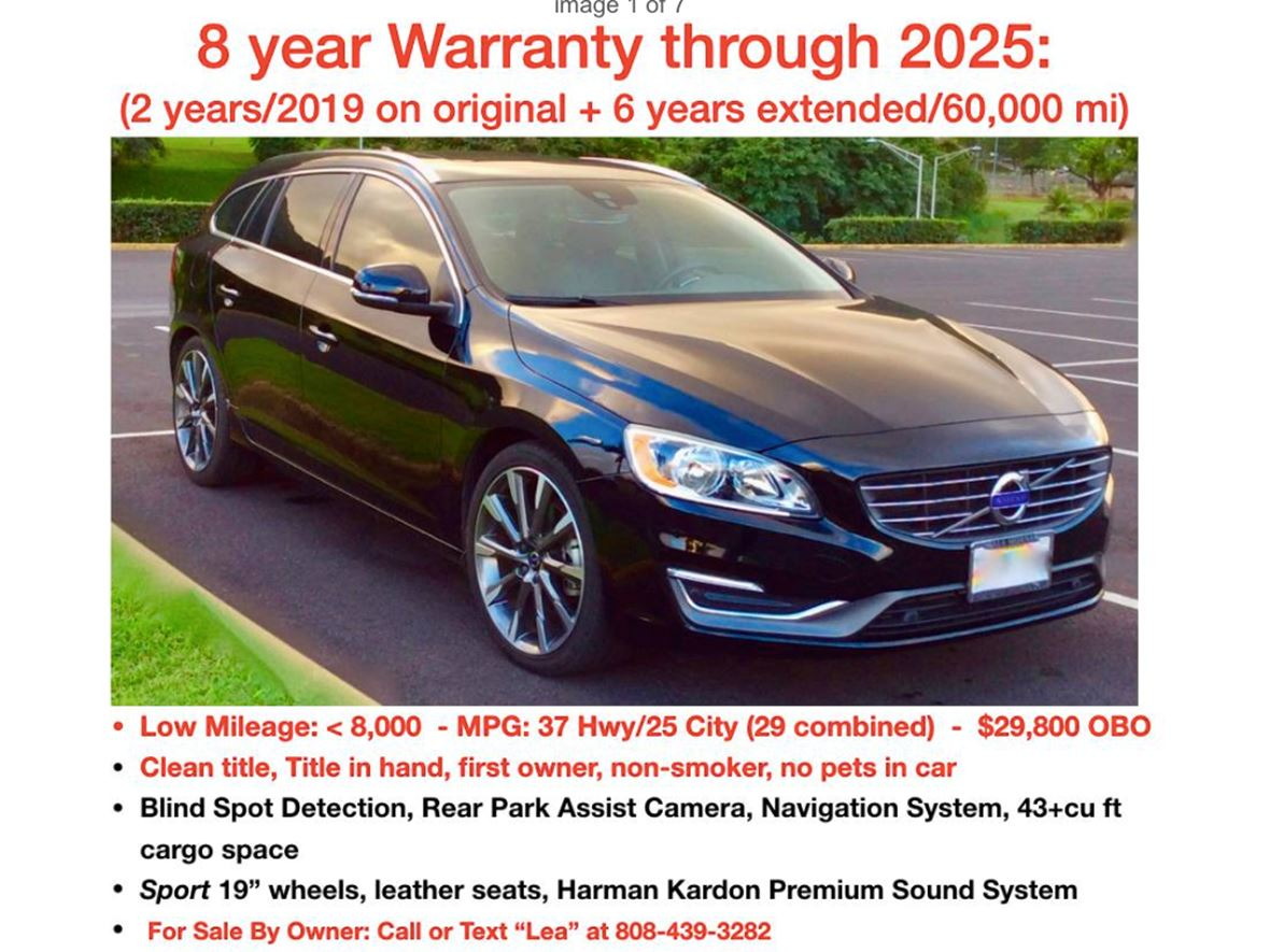 2015 Volvo V60 for sale by owner in Honolulu