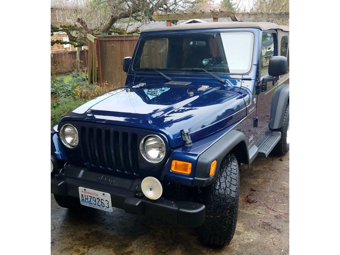 2005 Jeep Wrangler for sale by owner in Mercer Island