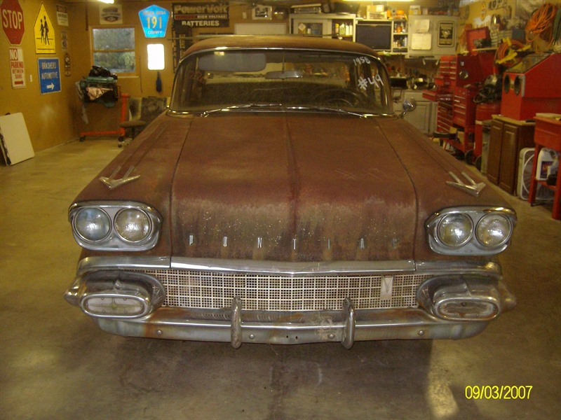 1958 pontiac chieftain antique car huntsville al 35899. Black Bedroom Furniture Sets. Home Design Ideas