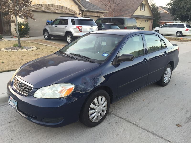 2005 toyota corolla for sale by owner in roanoke tx 76262. Black Bedroom Furniture Sets. Home Design Ideas